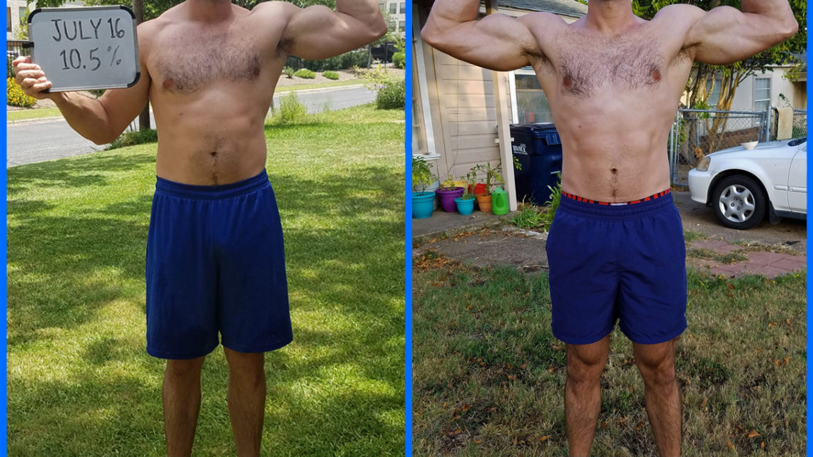 Ben Crane's Before and After from the Six Week Shortcut to Shred