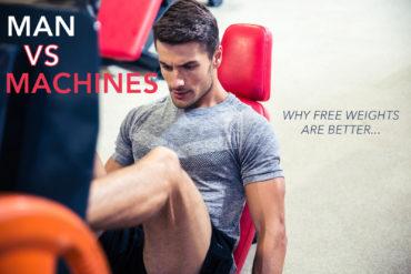 Man on leg press exercise machine