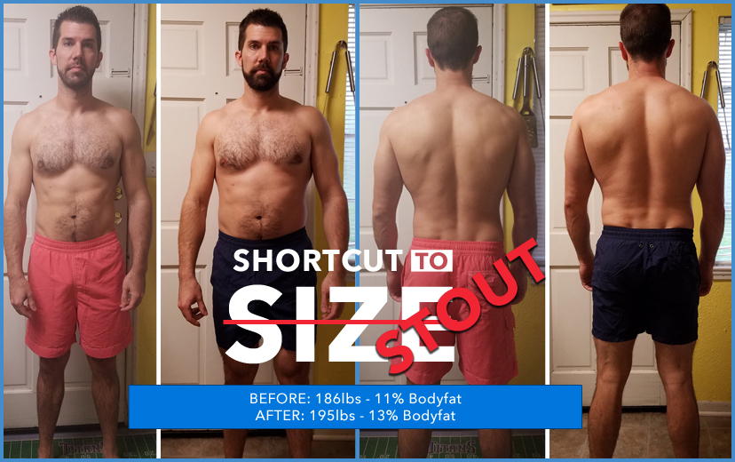 Shortcut to Size Before and After Results Photo of Ben Crane from College Station, Texas
