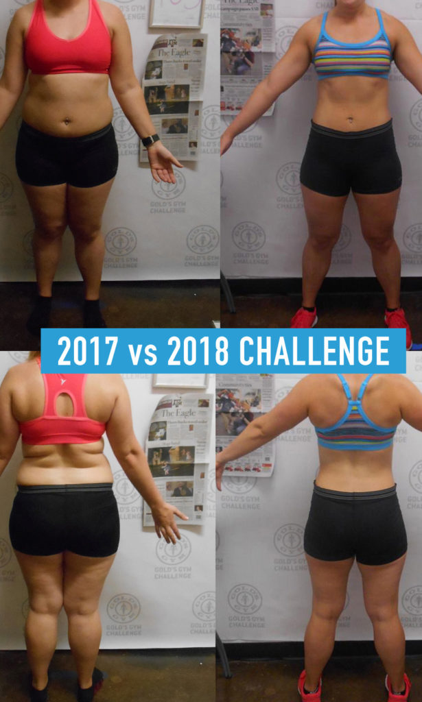 Audrey's 2017 Before vs 2018 After Transformation Photo