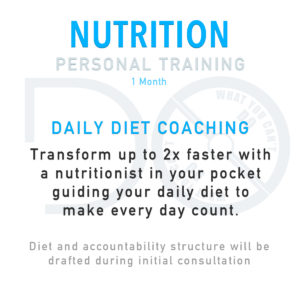 Nutrition Personal Training Package - 1 Month