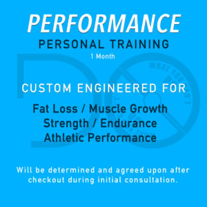 Performance Personal Training Package - 1 Month