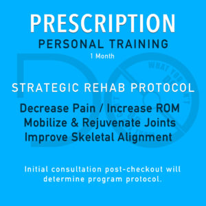 Prescription Personal Training Package - 1 Month