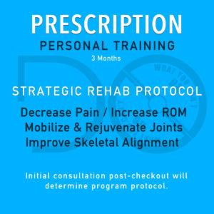 Prescription Personal Training Package - 3 Months