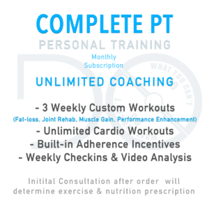 Complete PT Subscription - All Inclusive Personal Training Service from Do What You Can't