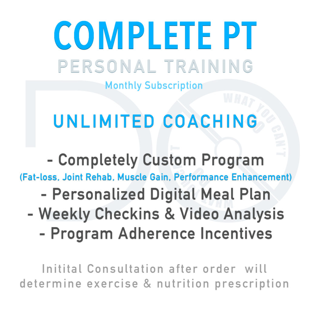 Complete PT Personal Training Subscription Package