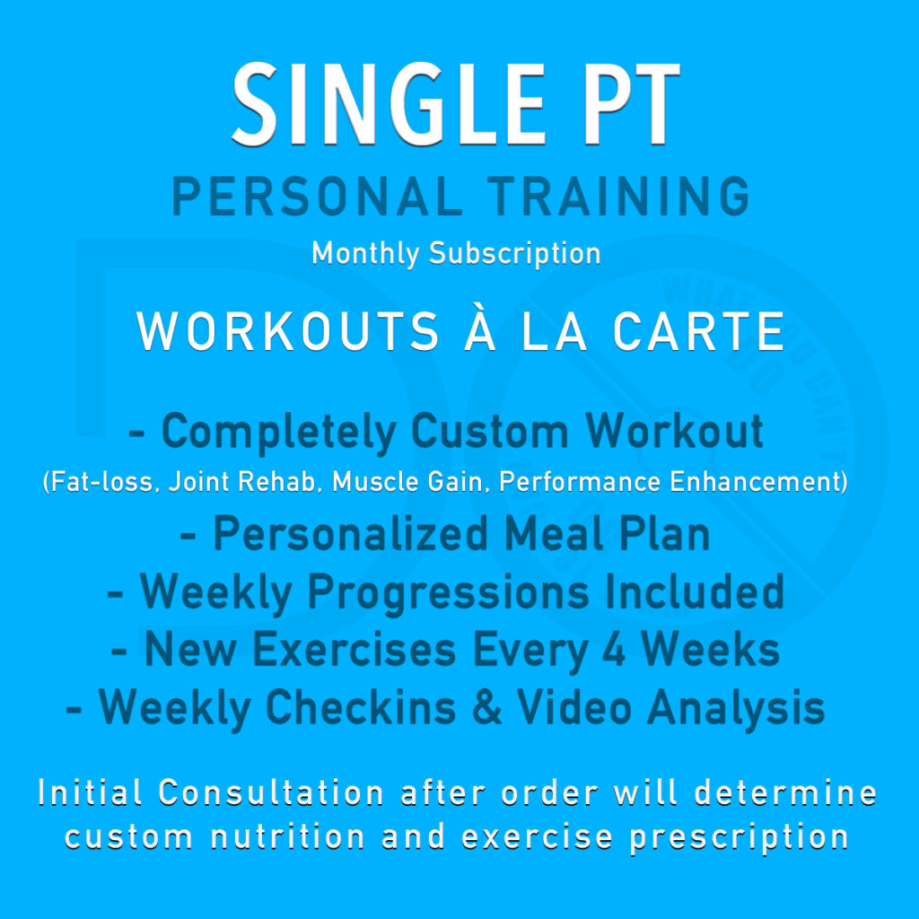 Single Personal Training Workout Subscription