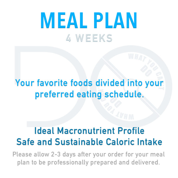 4 Week Meal Plan Product Image