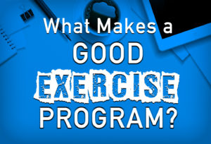 What Makes a Good Exercise Program?