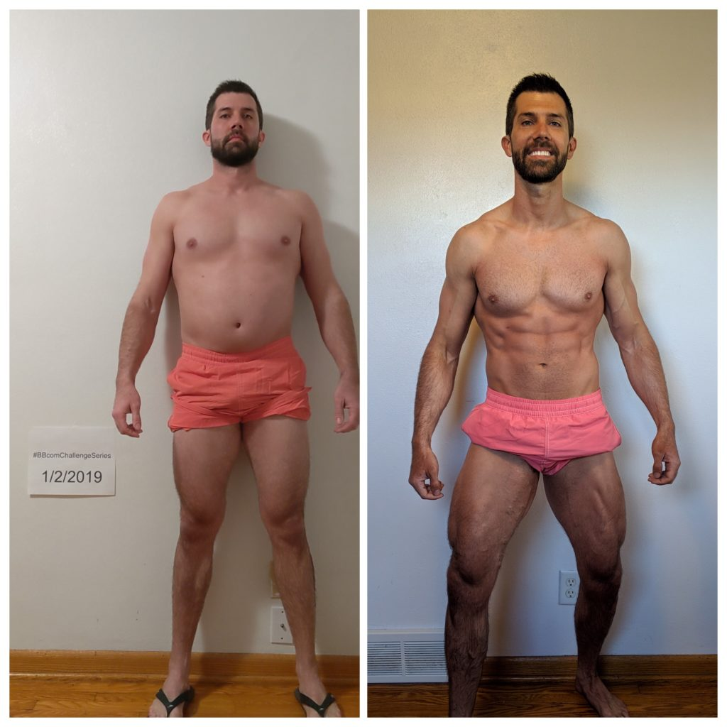 2019 Dad Bod to Rad Bod Before and After Results Photo