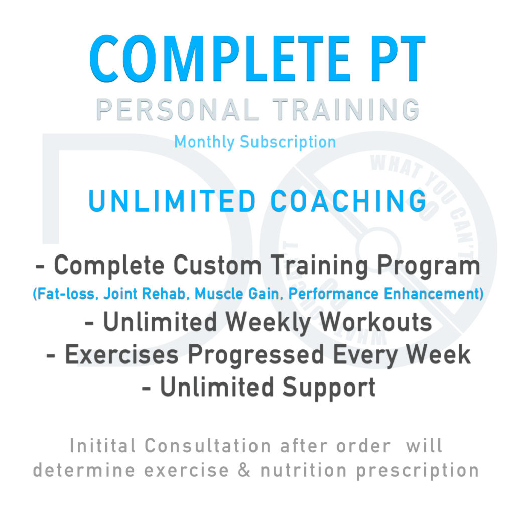 Complete PT Training Package from Do What You Can't Online Personal Training Service