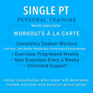 Single PT Training Package from Do What You Can't, Online Personal Training Service