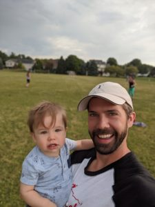 Coach Ben Crane and his son Forrest